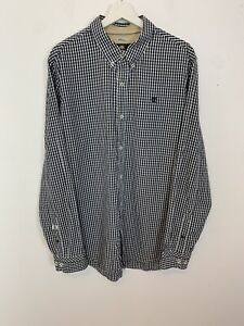 Men-039-s-Timberland-Earth-Keepers-Long-Sleeve-Checked-Shirt-Black-White-UK-Size-XL