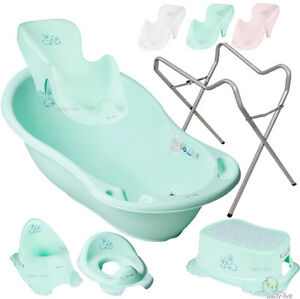 bunnies set babybadewanne babywanne thermometer abfluss st psel mit ohne st nder ebay. Black Bedroom Furniture Sets. Home Design Ideas