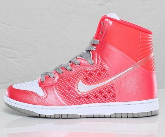 Nike Dunk Hi Skinny Haper Premium Gr 42 solar ROT medium Grau 454495 600