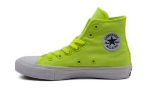 CONVERSE Chuck Taylor All Star II High Top Scarpe Sneakers VOLT GREEN 150157C