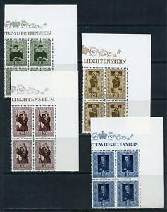 LIECHTENSTEIN-SCOTT-266-69-CORNER-BLOCKS-OF-FOUR-MINT-NEVER-HINGED-SCOTT-320