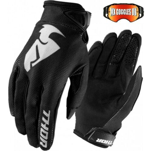 THOR SECTOR MX GLOVES BLACK   SIZE ADULT XXL  MOTOCROSS ENDURO ATV TRAIL