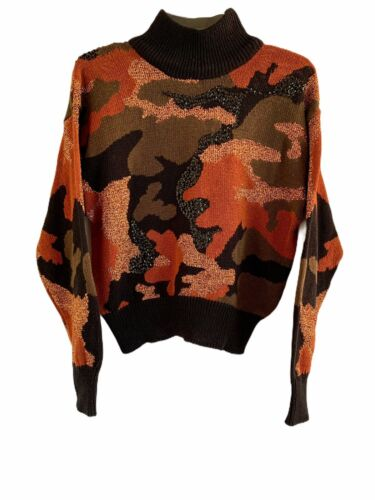 Vintage I B Diffusion Camouflage Turtleneck Sweate