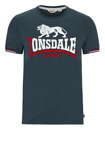 Rare-Lonsdale-Limited-Edition-Premium-T-Shirt-Flock-Print-Slim-Fit-100-Cotton
