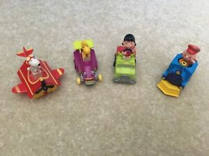 1989-Peanuts-Set-of-4-Snoopy-Charlie-Woodstock-Lucy-McDonald-039-s-Happy-Meal-Toys