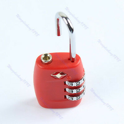 New Red TSA335 Resettable 3 Digit Combination Safe Travel Suitcase Code Lock HOT