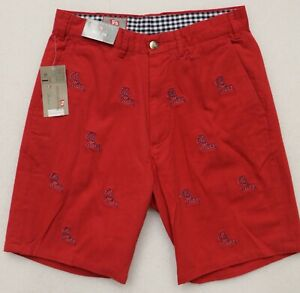 OLE-MISS-COLLEGIATE-PENNINGTON-amp-BAILES-SIZE-30-RED-SHORTS-9-034-INSEAM-99-Retail