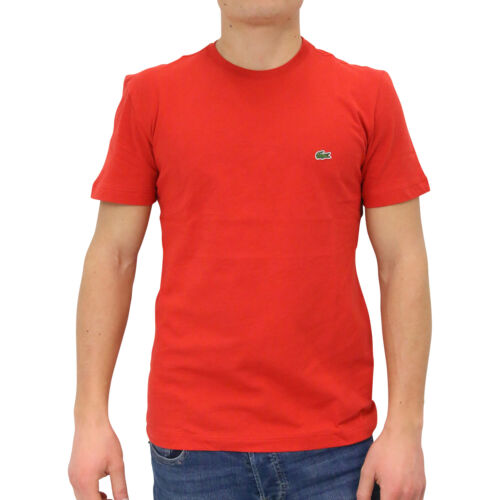 Lacoste Rundhals T-Shirt Shirt kurzarm Herren TH2038 9QA Rot