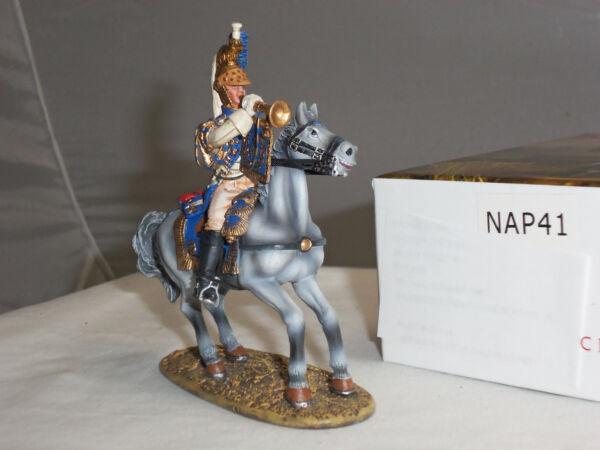 Analytique Centurion Nap041 French Imperial Guard Impératrice Dragoons Clairon Monté Figure Non Repassant