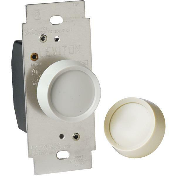 30 Pk Leviton Almond 600w Single Pole Rotary Dimmer Light