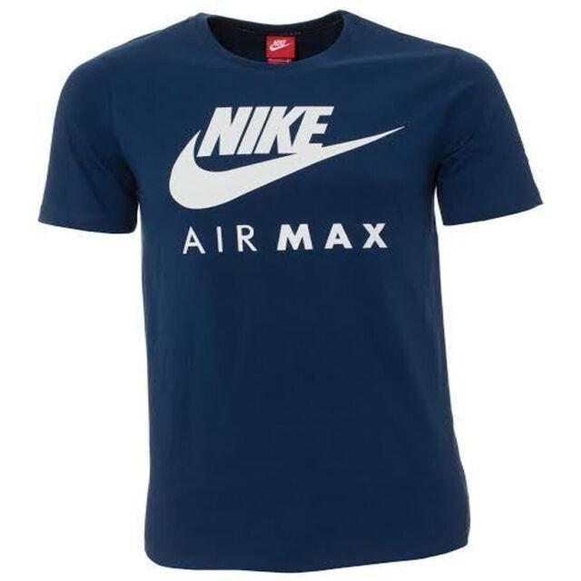 c4ad9eba01c Nike Air Max Mens Athletic White Swoosh Blue T Shirt 809247 423 M for sale  online