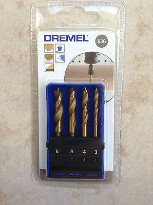 Genuine 4 piece DREMEL WOOD BIT SET 636