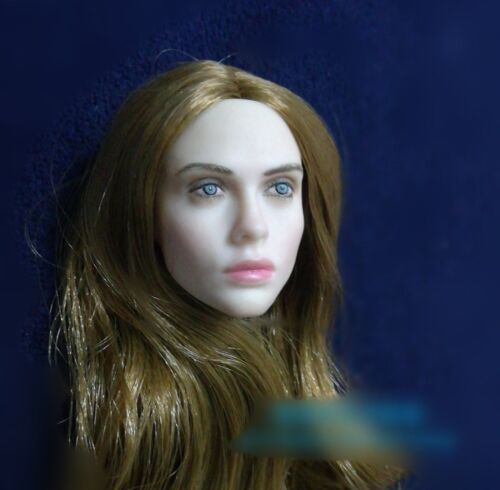 """Custom 1//6 Female Head Pale Villa Planted Hair Carved Model Toy PVC Fit 12/"""" Doll"""