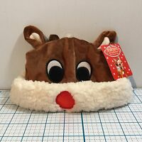Rudolph The Red Nosed Reindeer Baby Rudolph Hat 0-6 Months - Christmas
