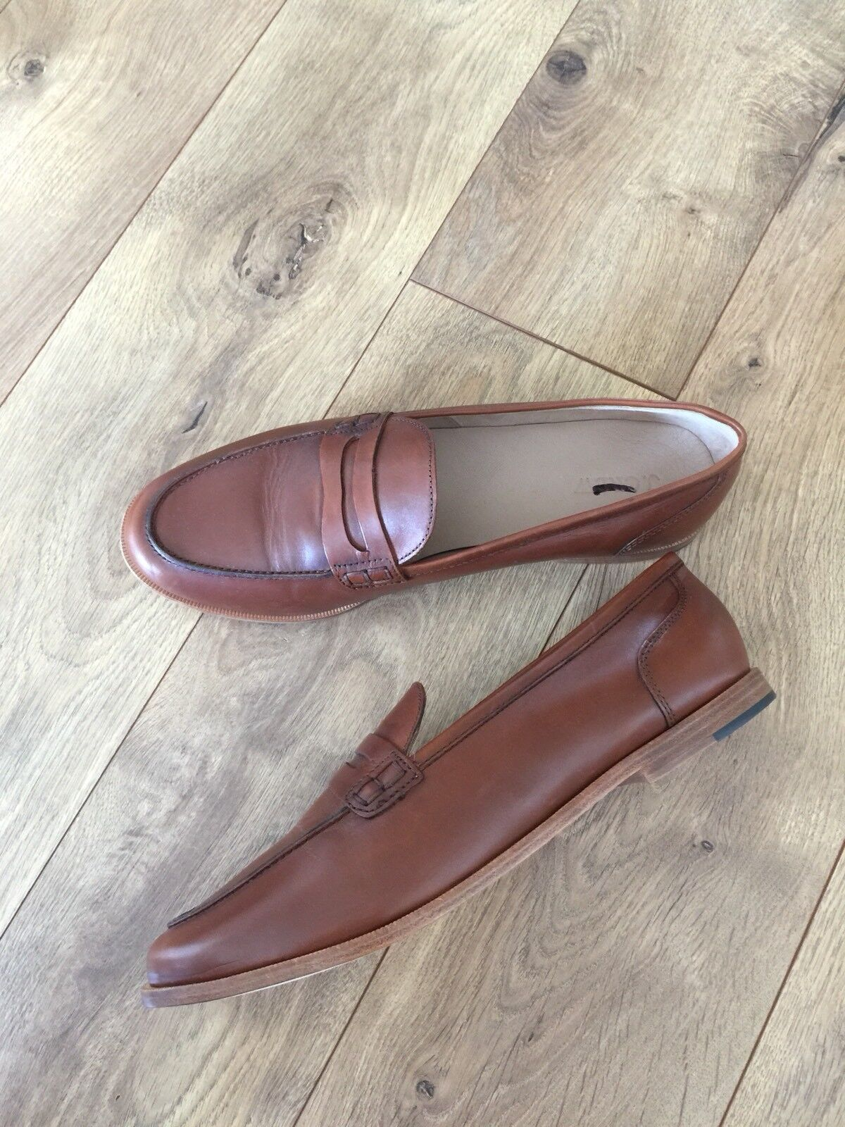 New JCrew Ryan penny penny penny loafers Leather chaussures 11 burnished pecan marron H8200 b30312