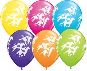 MELBOURNE-CUP-PARTY-SUPPLIES-BALLOONS-10-x-11-034-RACEHORSE-WRAP-TROPICAL-BALLOONS