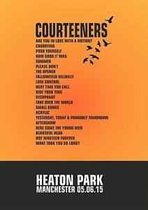 Canvas-The-Courteeners-Set-List-Poster-Heaton-Park-Manchester-5th-June