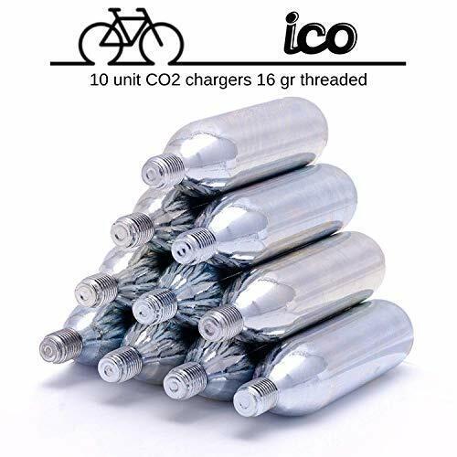 For threaded CO2 bike inflator 10 PACK CO2 cartridge 16g threaded ICO