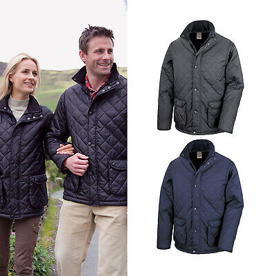 R195X Result Urban Outdoor Wear Mens Cheltenham Jacket Diamond Quilted Coat
