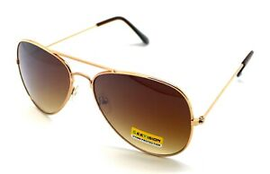 PT-Gafas-de-Sol-Aviador-Hombre-Mujer-Sunglasses-UV400-Espejo-Marron