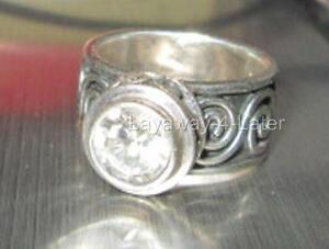 RARE-Retired-R1233-Silpada-Sterling-Silver-Bezel-Set-Cubic-Zirconia-Swirl-Ring-6