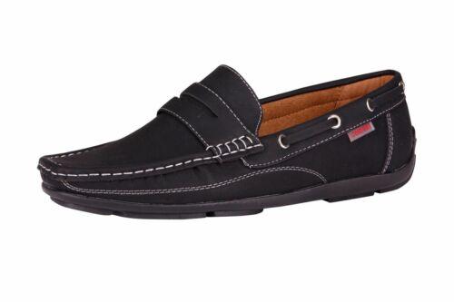 Braun Slipper Schwarz Gr 39 40 41 42 43 44 45 Herren Schuhe Blau Mokassins