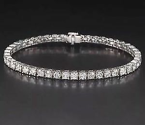 d2fa243b234b 6.00 CTW ROUND CUT NATURAL TENNIS BRACELET 14K WHITE gold 4