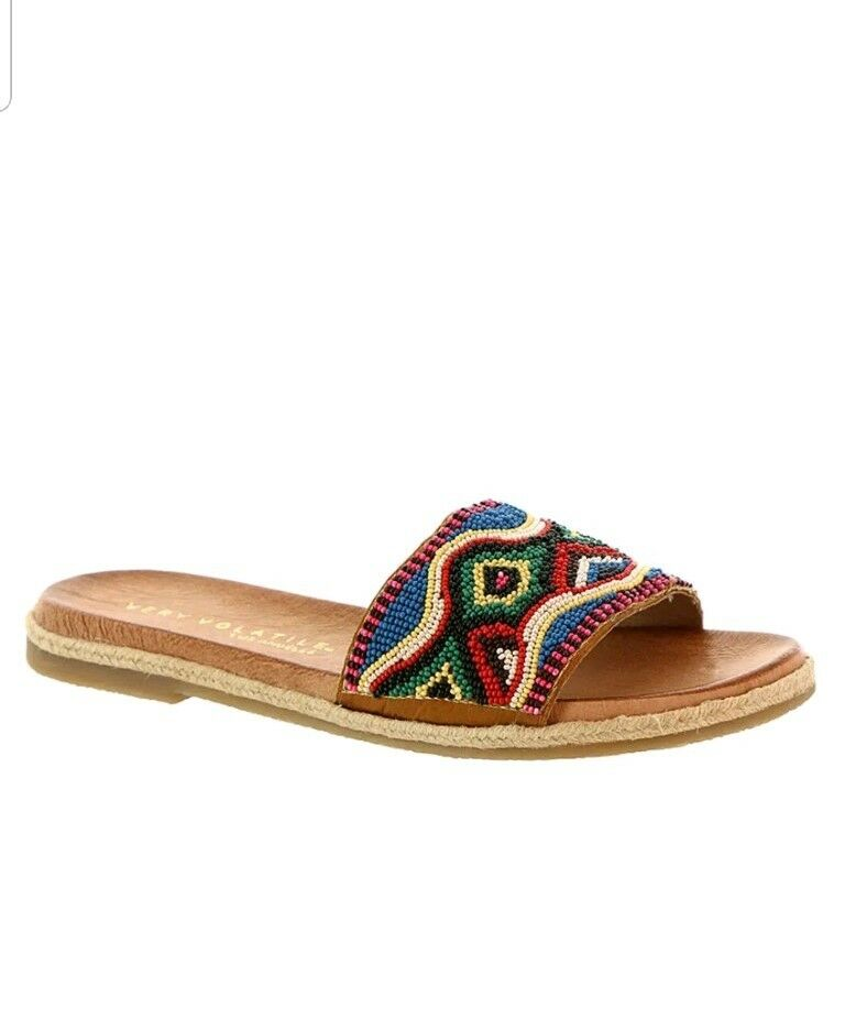 New  Womens Very Volatile Ithaca Women's Sandal Beaded  90 9M