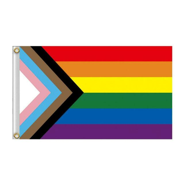 GAY PRIDE BEAR Quality Fabric Flag 3Ft X 5Ft Durable Outdoor Flag GAY PRIDE
