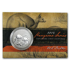 2014 1 oz Silver Australian Kangaroo Coin - In Display Card - SKU #78400