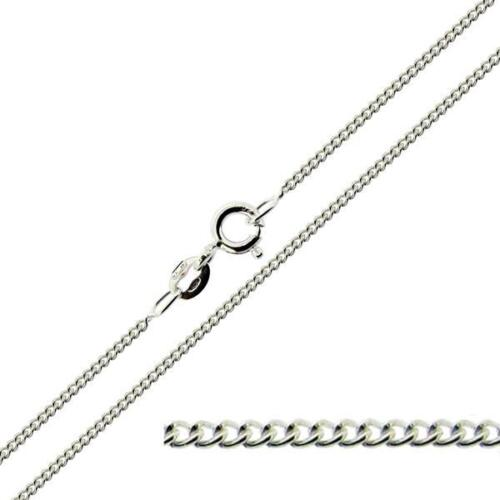 375 Solid 9ct Yellow White Gold Curb Belcher Trace Figaro Chain Link Necklace