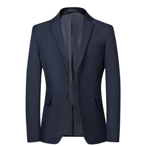 Men/'s Business Casual Blazer Jacket Two Button Formal Dress Slim Fit Plain New L