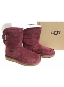 49e061f5d6b Details about Ugg Australia Women's Remora Buckle Crystal Boots 1092709  Size 7 Barnet Red NIB