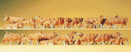 "Preiser 14409 HO Figuren /""Kühe 30 Figuren/""  #NEU in OVP## braun"