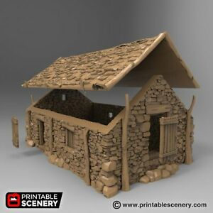 Details about The Stone Barn 28mm Tabletop Games Printable Scenery Dwarven  Forge D&D Terrain