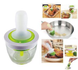 Silicone-basting-brush-oil-dispenser-bottle-glass-jar-set-vinegar-bbq-sauce
