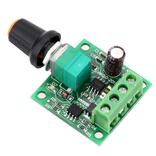 Mini Low Voltage DC PWM Motor Speed Controller Module 1.8V 3V-5V-6V 12V 2A Neu