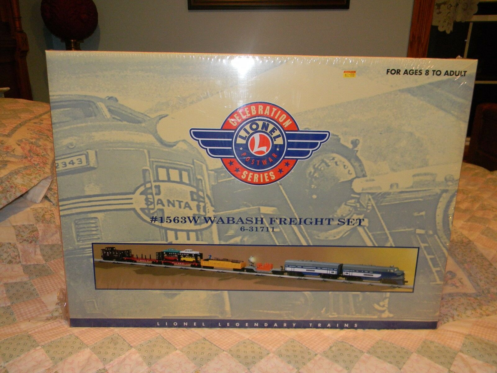 Lionel  1563 W Wabash Freight Set 631711 in Factory Celaphane