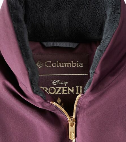 $500 Columbia Women/'s Disney Frozen 2 Anna Down Cape XL Purple Dahlia Orig
