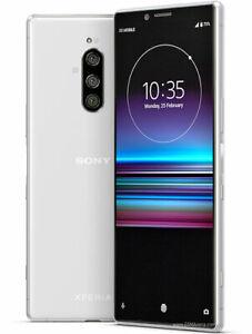 """Sony Xperia 1 J9110 WHITE Dual-SIM 6/128GB 6.5"""" OLED 4K HDR IP68 Phone ByFedEx"""