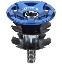 "Acor CNC Alloy Headset Topcap & Star Washer 1.1/8"" MTB Bicycle Bike Blue Top Cap"