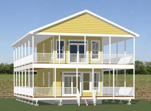 Model 10I 3 Bedroom 16x30 House PDF Floor Plan 878 sq ft