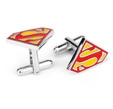 Quality Cufflinks Superman Cuff links Colourful Red Super Man French Shirt