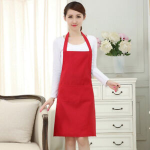 Chefs-Apron-Catering-with-Bib-Pockets-Cooking-Chef-Kitchen-HGUK