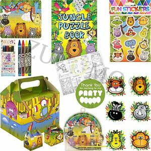 Boys-Girls-Filled-Party-Boxes-Themed-Kids-Jungle-Party-Supplies-Ready-Made