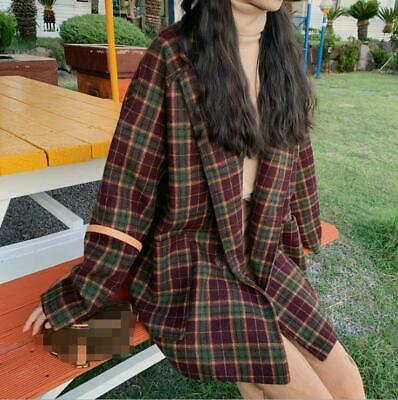 Korean Inspired Single-breasted New Blazer Womens Coats Loose Casual Jacket Chic