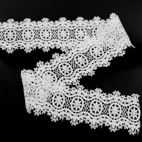 2 Yds Vintage Floral Lace Edge Trim Bridal Dress Ribbon Sash DIY Sewing Applique