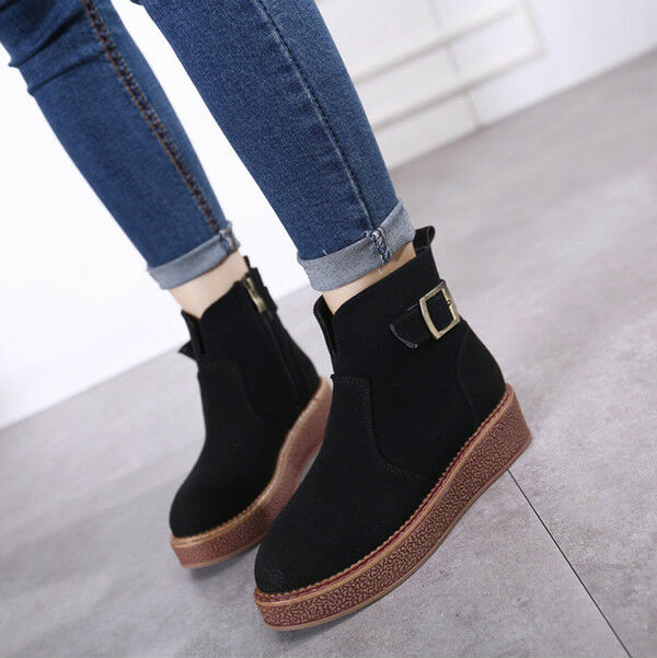 botas negro elegantes talón cómodo 3 cm negro botas nieve como piel CW801 ab55c3
