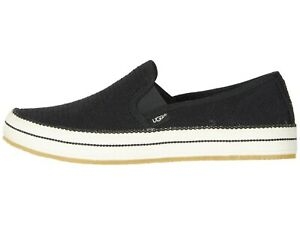 8a003d902af Details about UGG BREN Black Women's Cotton Mesh Slip On Sneakers 1020090