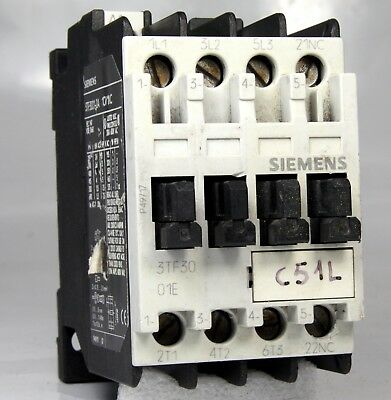 Siemens Contactor 3Tf3010-0A 20A 24V Ac 7.5Kw 7.5Hp